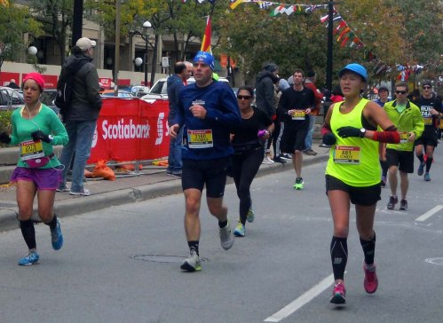 Scotiabank Waterfront Marathon runners